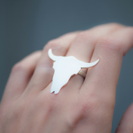 Buffalo Ring Handmade from Sterling Silver