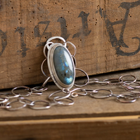 Night Sky Labradorite and Sterling Silver Necklace