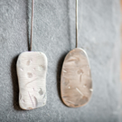 Organic Textured Shapes Sterling Silver  Earrings