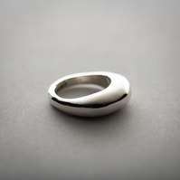 The Chicago- Curved Sterling Silver Ring