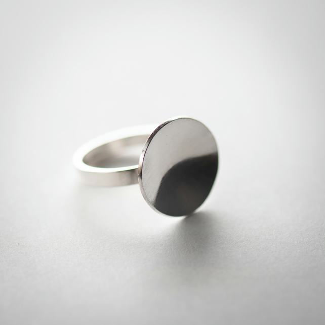 Sterling Silver Dished Ring