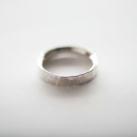 Hammered Sterling Silver Ring