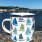 BOAT Enamel mug - Nautical - Gift for dad - Blue & white
