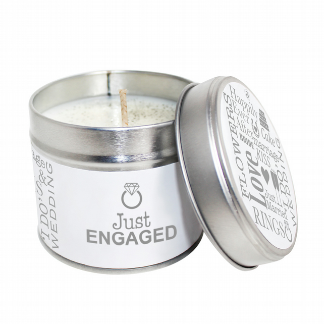 Just Engaged Scented Soya Wax Candle Tin