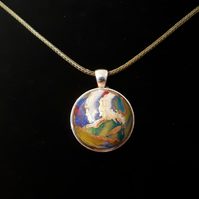 Abstract world pendent - Polymer clay