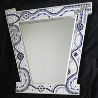 Mosaic Blue and White Mirror