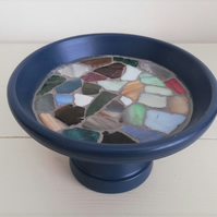 Mini Mosaic Birdbath, ideal for a window box, balcony or anywhere in the garden.