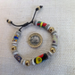 Adjustable bracelet with rare antique trade beads and prayer beads