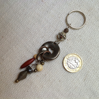 Keyring with vintage dangly bits