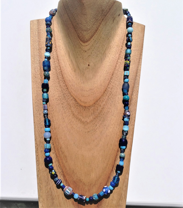 World Bead Collection Necklace With Antique Vi Folksy