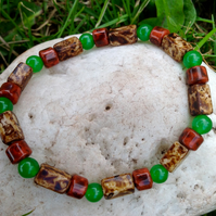 Colours of Nature bracelet, size M - L, 7.5""