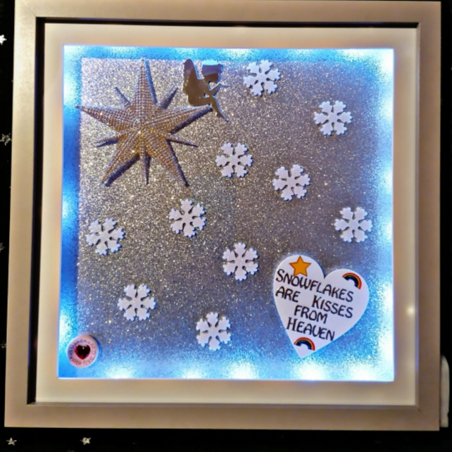 Light up picture, light up frame, memorial gift, kisses from Heaven.