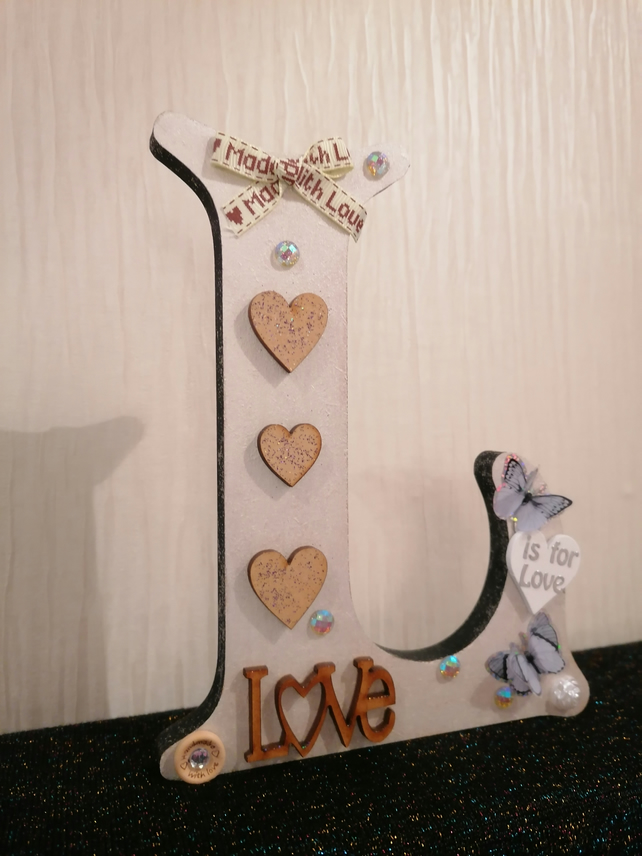 Valentines gift, mother's day gift, freestanding letter, Love gift, bespoke gift