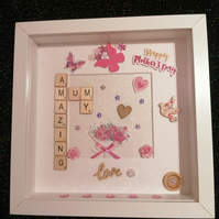 Mothers day gift, gift for mum, mother's day frame, mother's day picture, bespok