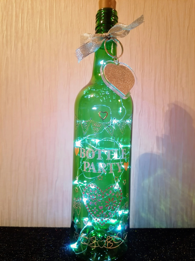 Light up bottle, bottle party, party decoration, party gift