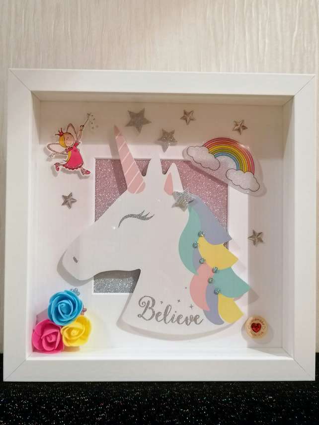 Unicorn picture, nursery decoration, girls birthday gift, unicorn gift
