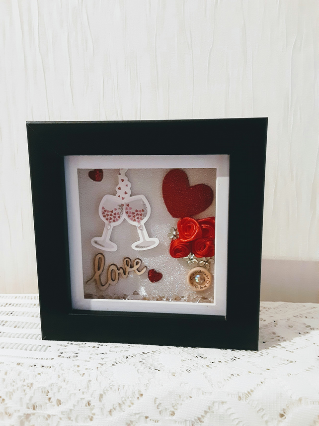 Valentines gift, anniversary gift, gift for couple. Girlfriend gift, frame, love