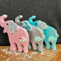 elephant, new baby gift, nursery decoration, baby shower, baby girl, baby boy.