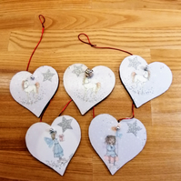 Fairy garland, unicorn garland, fairy decoration, love heart, fairies