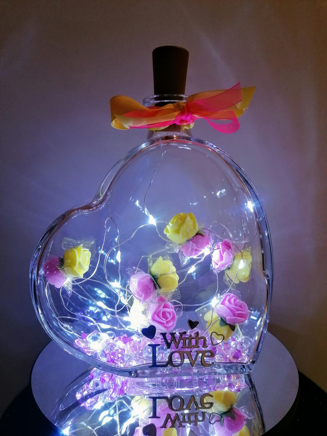 Light up heart, heart with lights, mother's day gift, gift for mum, gift for her