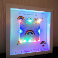 3d rainbow picture, insprinational gift, nursery decoration