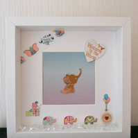 3d new baby nursery picture, new baby gift, baby shower gift.