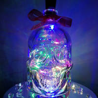 Light up skull, glass skull, skull with lights, party light