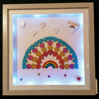 Light up rainbow, 3d rainbow picture, rainbow gift. Keepsake rainbow gift