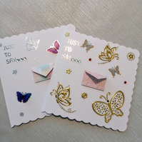 Keepsake Cards, birthday card, mini message cards, personalised cards