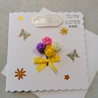 Keepsake Cards, 3d rose card, personalised cards, occasion cards