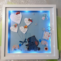 Personalised new baby gift, light up new baby frame, birthing details gift.