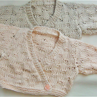 Crossover Style Ballerina Cardigan for a Baby Girl, Baby Shower Gift, Baby Gift