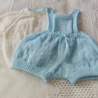 Baby's Romper and Jumper Set, Hand Knitted Baby Outfit, Baby Shower Gift