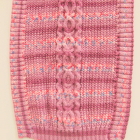 Hand Knitted Cabled Baby's Pram Blanket, Coming Home Blanket, Nursery Blanket