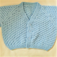 V Neck Moss Stitch Cardigan for a Baby Boy or Girl, Baby Shower Gift
