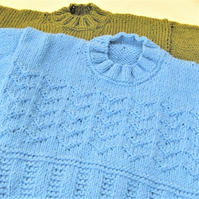 Children's Hand Knitted Patterned Jumper, Birthday Gift, Children's Clothes