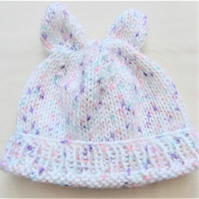 Baby's Hand Knitted Hat with Ears, Gift Ideas for Baby, Baby's Hat