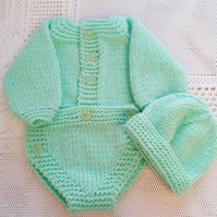 Baby's Long Sleeved Romper and Hat Set For a Boy or Girl, Baby Shower Gift