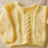 Child's Cable Pattern Gansey Jumper, Knitted Jumper, Children's Gift Ideas