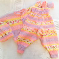 All in One Baby's Dungarees With A Cardigan and Hat, Gift Ideas for Babies