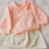 Jumper and Skirt Set for a Baby Girl, Baby's Clothes, Baby Shower Gift
