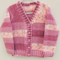 Classic Hand Knitted Cardigan for a Boy or Girl, Hand Knitted Aran Cardigan