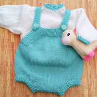 Baby's Hand Knitted Romper and Jumper Set, Hand Knitted Baby Outfit, Baby Gift