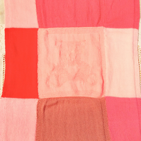 Shades of Pink Teddy Baby Blanket, Coming Home Blanket, Baby Shower Gift