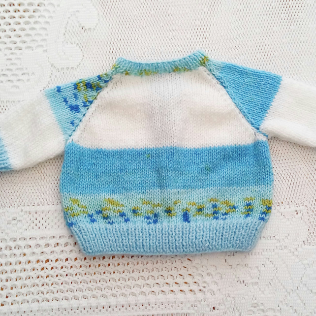 baby gift ideas 3-6 months baby sweater baby shower Hand knitted baby cardigan choice of colour baby knitwear baby clothing