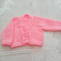 Hand Knitted Cardigan for a Premature Baby, Baby Shower Gift, New Baby Gift
