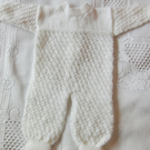 Long Sleeved Shell Patterned Baby Romper Suit For a Premature Baby