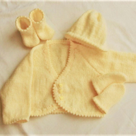 Premature Baby's 4 Piece Cardigan Set,