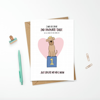 Personalised Funny Dog Card for Mum Birthday or Mother's Day