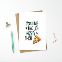 Funny Valentine's Day Pizza Card for Foodies and Food Lovers